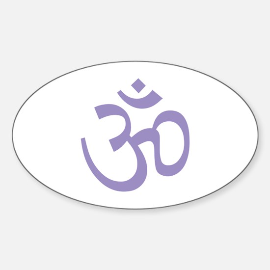 Yoga Ohm, Om Symbol, Namaste Sticker (Oval)