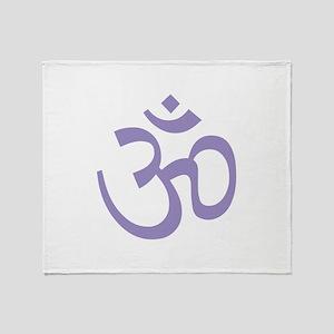 Yoga Ohm, Om Symbol, Namaste Throw Blanket