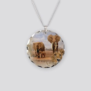 Africa Necklace Circle Charm