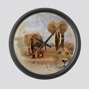 Africa Large Wall Clock