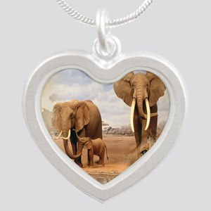 Africa Silver Heart Necklace