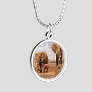 Africa Silver Round Necklace