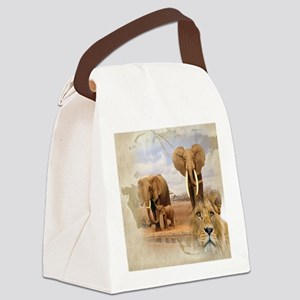 Africa Canvas Lunch Bag