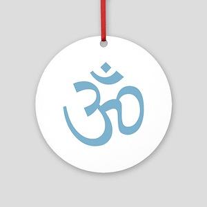 Yoga Ohm, Om Symbol, Namaste Ornament (Round)