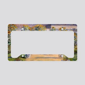 Artists Garden License Plate Holder