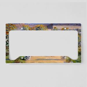 Artists Garden License Plate Holder