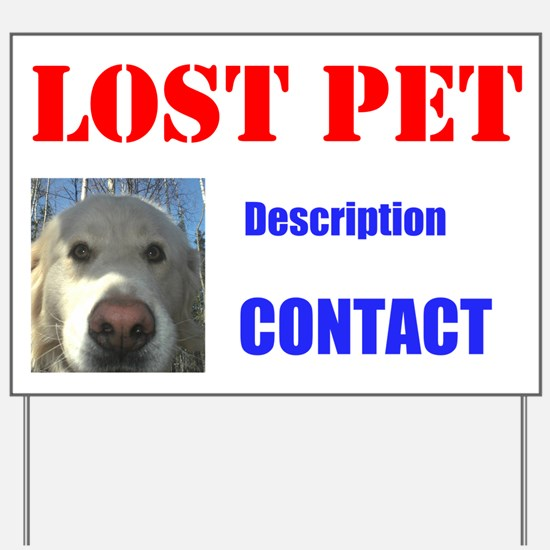 Lost Dog Editable Yard Sign