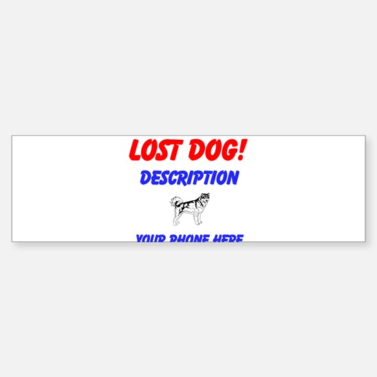 Cute Lost dog Sticker (Bumper)