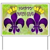 Mardi gras queen Yard Signs