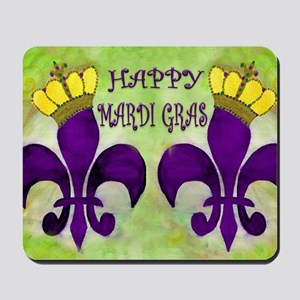 Mardi Gras Crowned Fleur de lis Mousepad