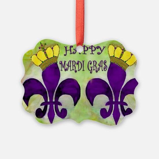 Mardi Gras Crowned Fleur de lis Ornament