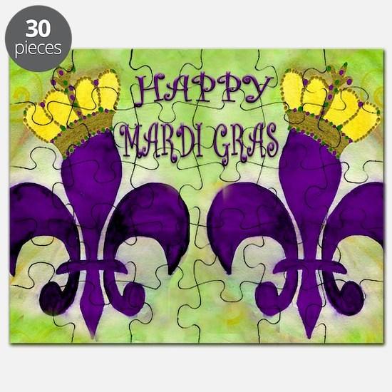 Mardi Gras Crowned Fleur de lis Puzzle