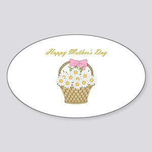 Happy Mother's Day (white daisies) Sticker (Oval)