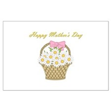 Happy Mother's Day (white daisies) Large Poster