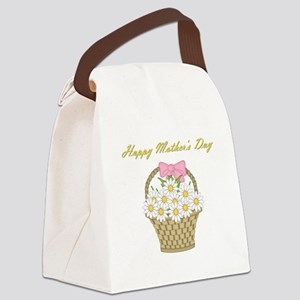 Happy Mother's Day (white daisies) Canvas Lunch Ba