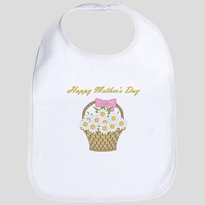 Happy Mother's Day (white daisies) Bib
