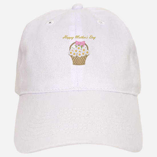 Happy Mother's Day (white daisies) Baseball Baseball Cap
