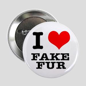 I Heart (Love) Fake Fur Button