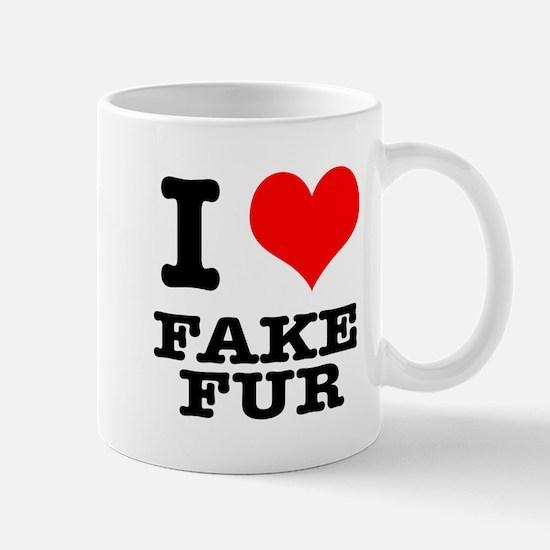 I Heart (Love) Fake Fur Mug