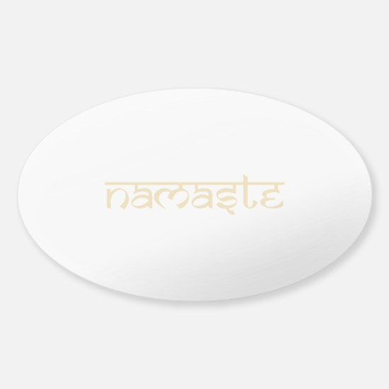 Namaste Yoga Ohm Sticker (Oval)