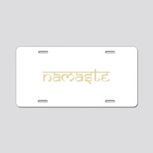 Namaste Yoga Ohm Aluminum License Plate