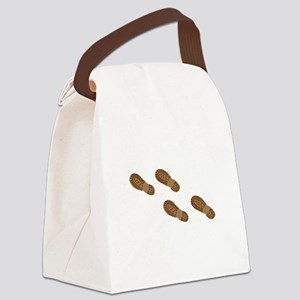 Hiking Boot Print Tracks Canvas Lunch Bag