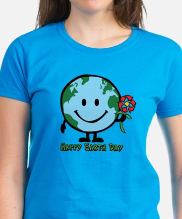 Happy Earth Day Women's Dark T-Shirt