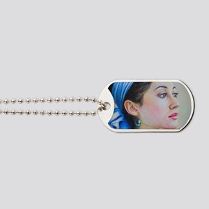 girl with an earring Dog Tags