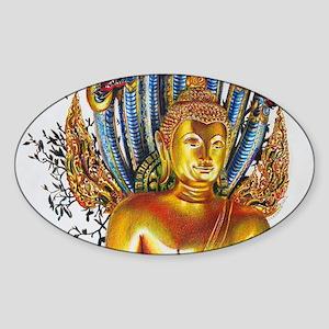 Golden Buddha Sticker (Oval)