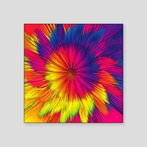 "Rainbow Starburst Square Sticker 3"" x 3"""