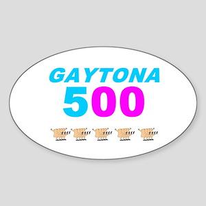 GAYTONA 500 Sticker (Oval)