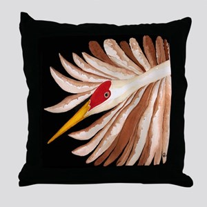 Love Sandhill Cranes Love Birds Throw Pillow