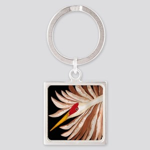 Love Sandhill Cranes Love Birds Square Keychain