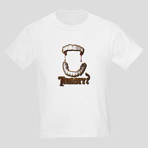 Vampire Teeth Brown Kids Light T-Shirt