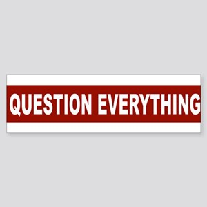 question_everything_arial_red Bumper Sticker