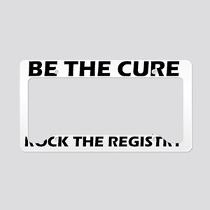 Be the Cure Ribbon Design License Plate Holder