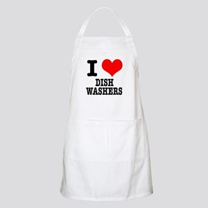 I Heart (Love) Dish Washers BBQ Apron