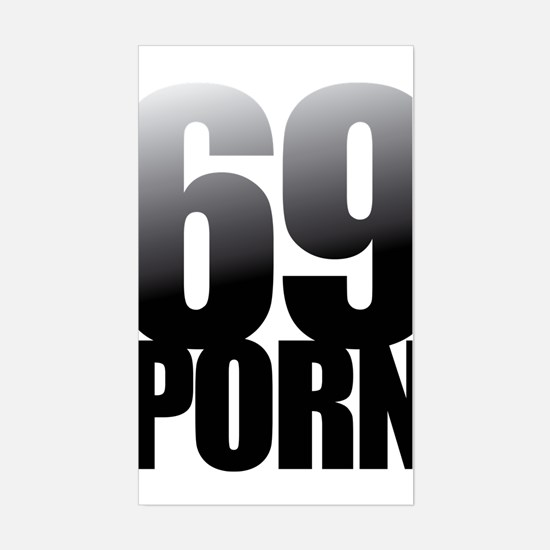 60 PORN Rectangle Stickers