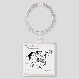 Whinny n Wine.com - Organic, with  Square Keychain