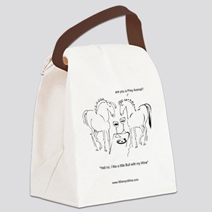 Whinny n Wine No Bull Canvas Lunch Bag