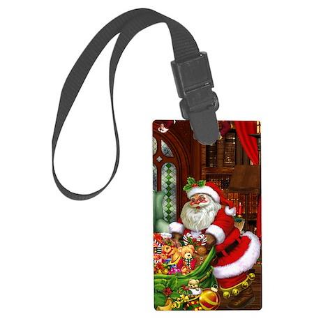 Santa Claus! Large Luggage Tag