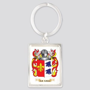 La-Gall Coat of Arms - Family Cr Portrait Keychain