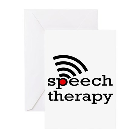 Speech Therapy Greeting Cards (Pk of 10) by therapydept