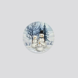 Snowman Family Mini Button