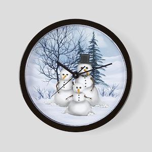 Snowman Family Wall Clock