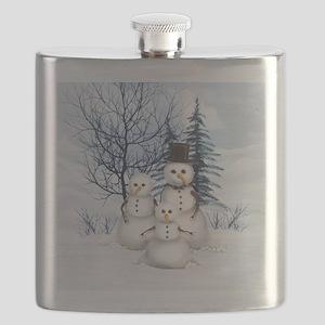 Snowman Family Flask