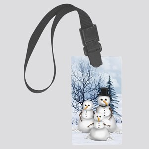 Snowman Family Large Luggage Tag