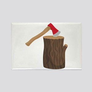Axe With Log Magnets