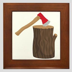 Axe With Log Framed Tile