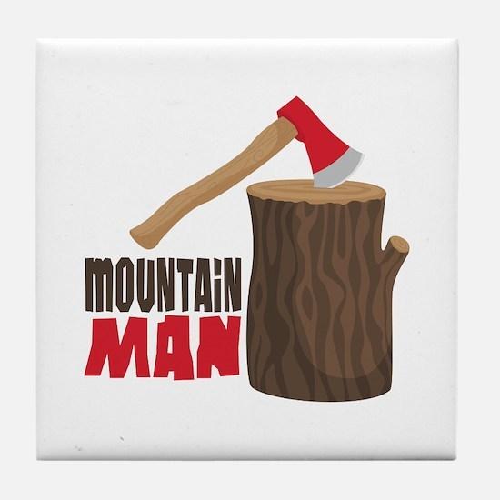 mOUNTAiN MAN Tile Coaster